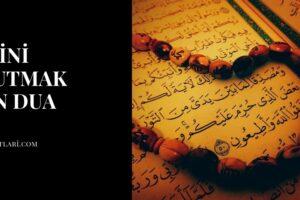 Birini Unutmak İçin Dua